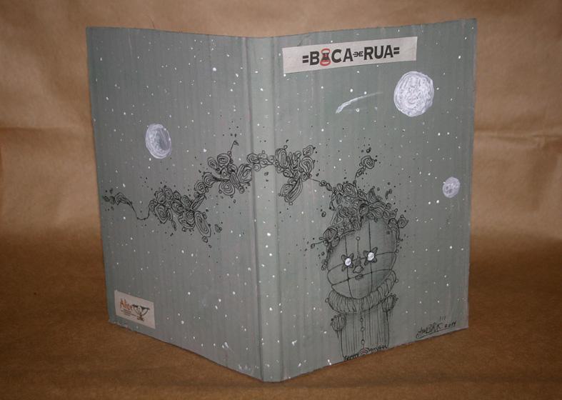 Artistas ilustram capa do livro-arte Boca de Rua