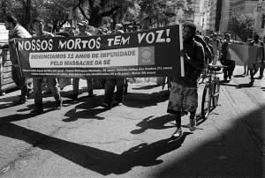 Povo da rua se manifesta contra impunidade da chacina da Sé - Crédito: Luiz Abreu